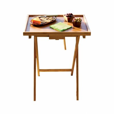 Lipper International Bamboo Snack TV Tray Table (Set of 2)