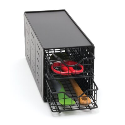 Lipper International Coffee Pod Double Drawer Stand