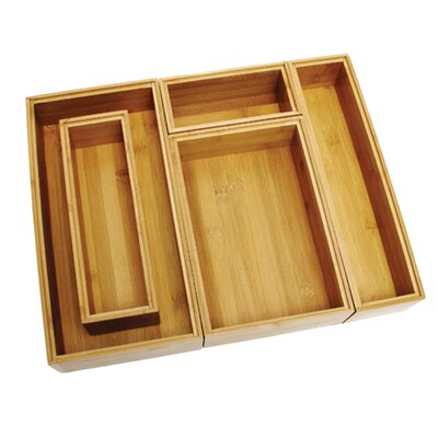 <strong>Lipper International</strong> Bamboo 5 Piece Organization Box Set