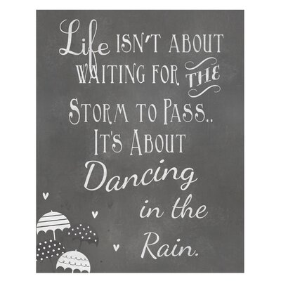 Timi and Leslie Dancing in The Rain... Art Print