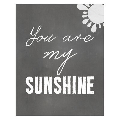 Timi and Leslie You are My Sunshine Art Print