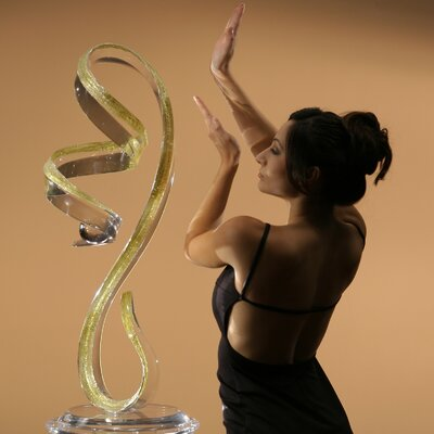 Sculptures and Art Pieces Acrylic Vertical Wave Sculpture