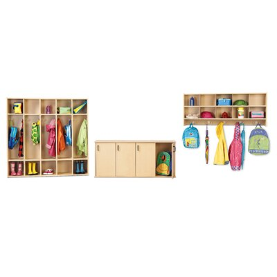 Young Time Four Section Stackable Locker with Doors