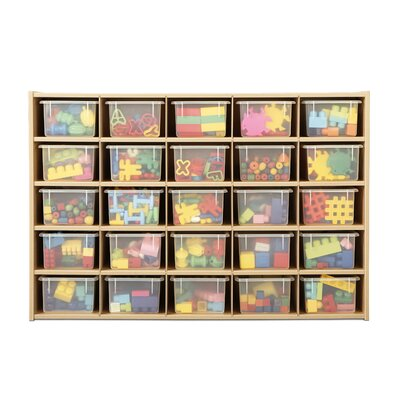 Young Time 25 Tray Storage Cubbie with Clear Trays