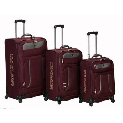 Rockland Polo Equipment Navigator 3 Piece Spinner Luggage Set