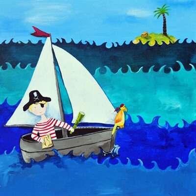 CiCi Art Factory Wit & Whimsy Pirate Canvas Art