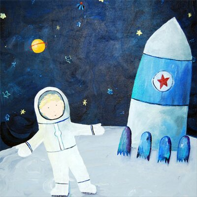 CiCi Art Factory Wit & Whimsy Man on the Moon Canvas Print