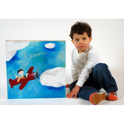 CiCi Art Factory Wit & Whimsy L'Avion Canvas Print