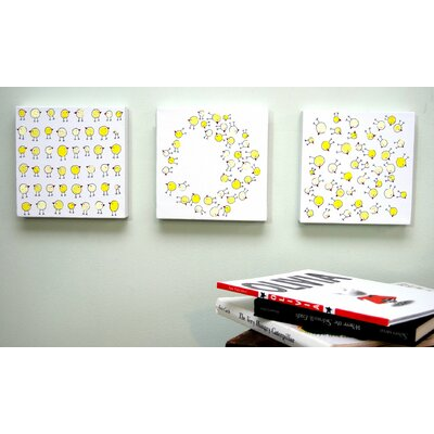 CiCi Art Factory Lotsa Random Chicks Original Canvas Art