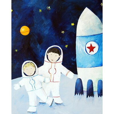 CiCi Art Factory Brothers on The Moon Paper Print