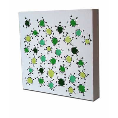 CiCi Art Factory Lotsa Random Frogs Original Canvas Painting