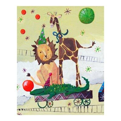 Circus Train Lion Paper Print