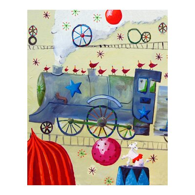 CiCi Art Factory Circus Train Poodle Paper Print