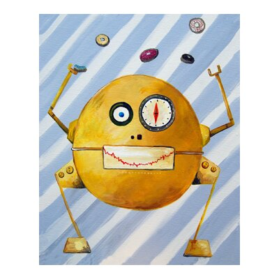 CiCi Art Factory Patchwork Mitmit Loves Donuts Robot Canvas Art