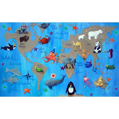 "CiCi Art Factory Wit and Whimsy 22"" My World Giclee Canvas Print by Liz Clay"