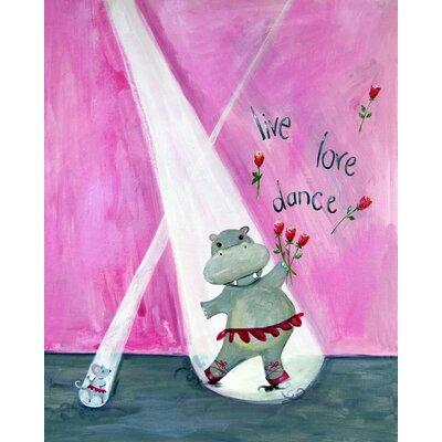 CiCi Art Factory Words of Wisdom Live Love Dance Paper Print