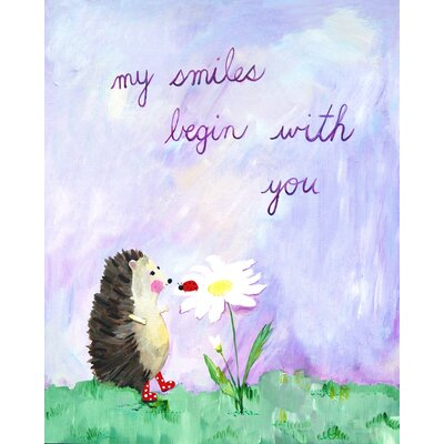 CiCi Art Factory Words of Wisdom My Smiles Begin with You Print