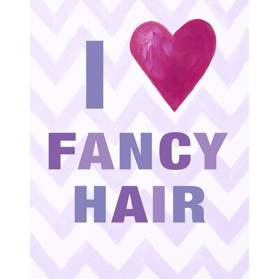I Heart Fancy Hair Paper Print