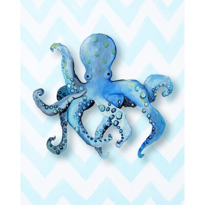Nautical Octopus Gicl�e Canvas Art