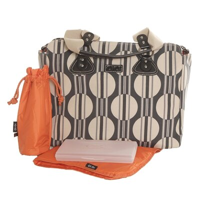 OiOi Stripe Dot Tote Diaper Bag