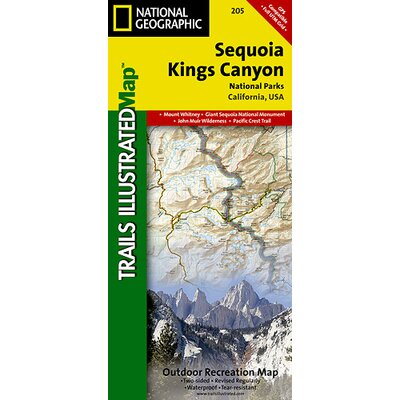 National Geographic Maps Trails Illustrated Map Sequoia/Kings Canyon National Park