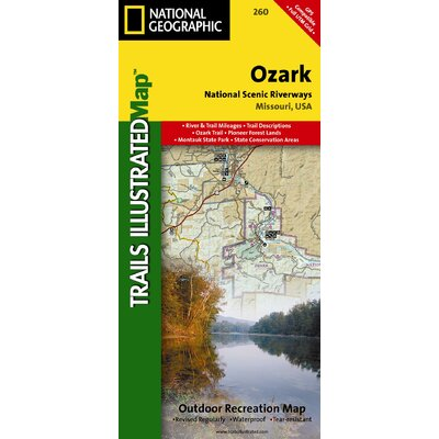 National Geographic Maps Trails Illustrated Map Ozark National Scenic Riverways
