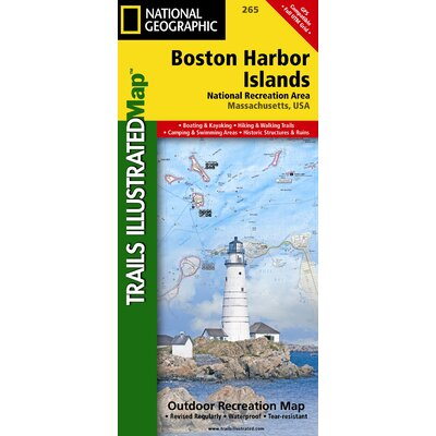 National Geographic Maps Trails Illustrated Map Boston Harbor Islands National Recreation Area