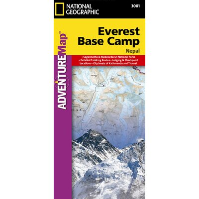 National Geographic Maps Everest Base Camp, Nepal Map