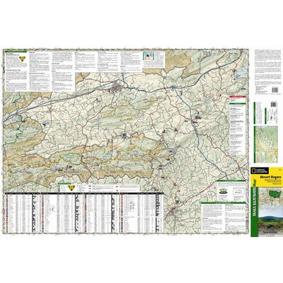 National Geographic Maps Trails Illustrated Map Mount Rogers National Recreation Area