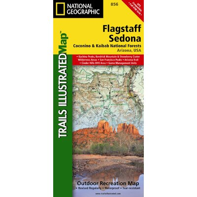National Geographic Maps Trails Illustrated Map Flagstaff / Sedona, Coconino & Kaibab National Forests