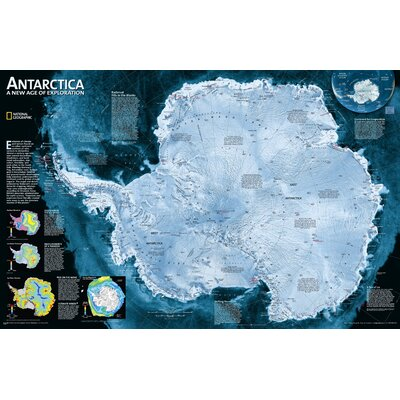 National Geographic Maps Antarctica Satellite Wall Map