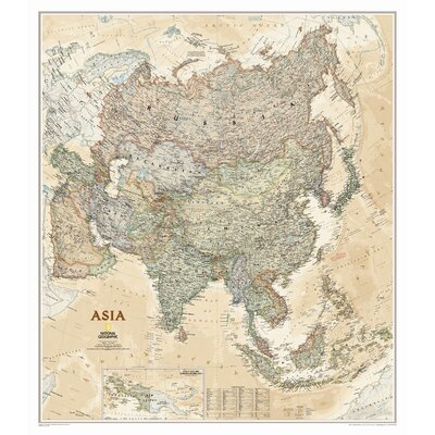 National Geographic Maps Asia Executive Wall Map
