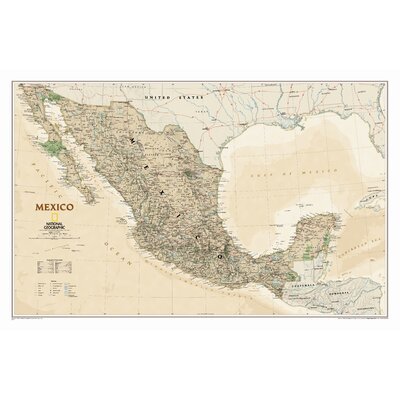 National Geographic Maps Mexico Classic Wall Map