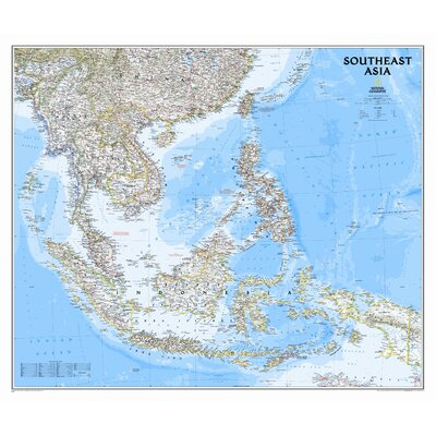 National Geographic Maps Southeast Asia Classic Wall Map