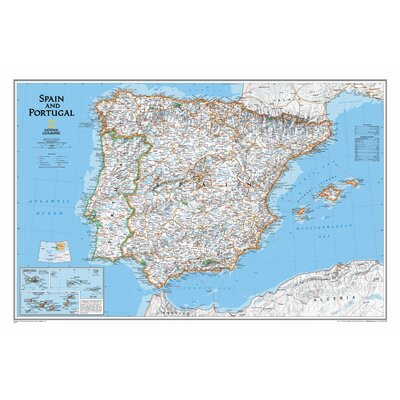 National Geographic Maps Spain & Portugal Classic Wall Map