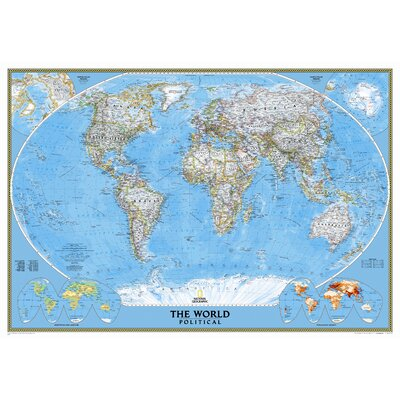 National Geographic Maps Mural World Map