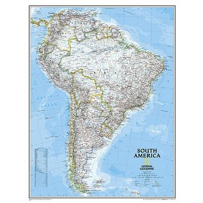 National Geographic Maps South America Classic Wall Map