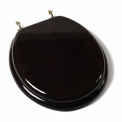 Comfort Seats Designer Solid Round Toilet Seat with PVD Brass ...