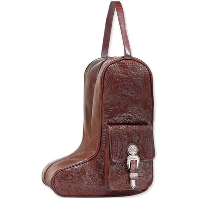 Mahogany Oakleaf Zip-around Boot Shoulder Bag