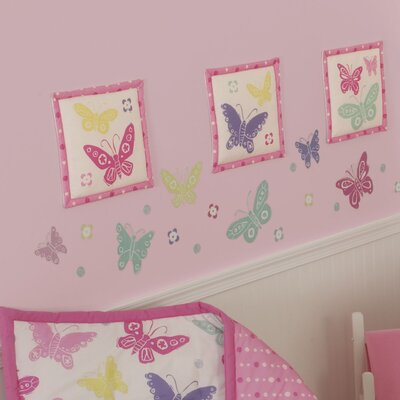 Sumersault Butterfly Block Decal