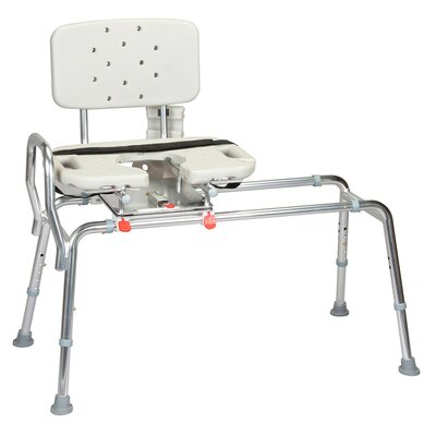 Transfer Bench with Cut-Out Molded Swivel Seat and Back