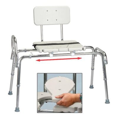 Eagle Health Snap N Save Sliding Transfer Bench with Replaceable Cut Out Seat