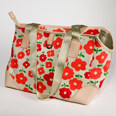BowhausNYC Coral Daisy Pet Carrier