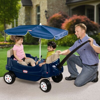 Little Tikes Cozy Crusin' Wagon Ride-On with Umbrella