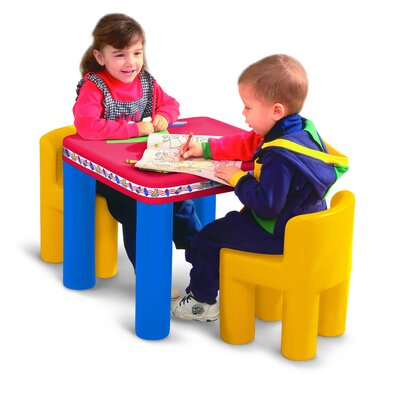 Little Tikes Classic Kids' 3 Piece Table and Chair Set