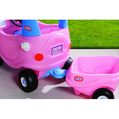 Little Tikes Cozy Coupe Princess Trailer Ride-On