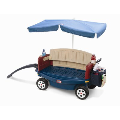 Little Tikes Deluxe Ride and Relax Wagon Ride-On with Umbrella and Cooler