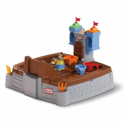 Little Tikes Castle Adventures 5' Rectangular Sandbox with Cover