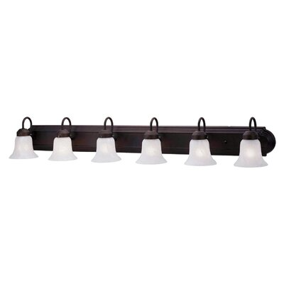 Livex Lighting Home Basics 6 Light Vanity Light