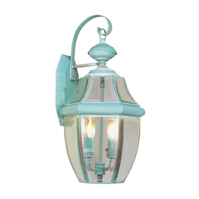 Livex Lighting Monterey Outdoor Wall Lantern in Verdigris